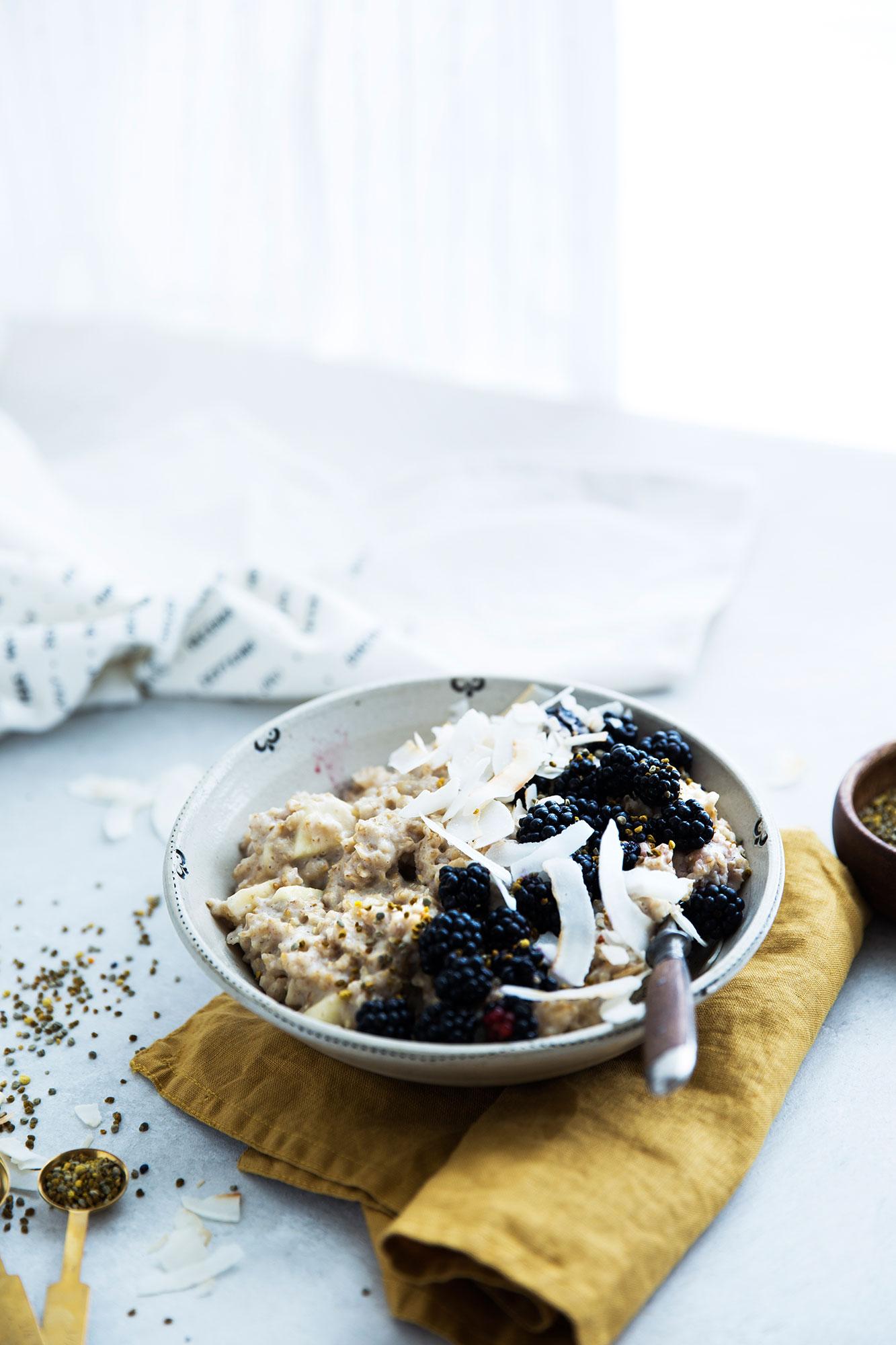 Porridge mit Brombeeren Rezept