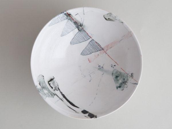 Toepferware Schale mit Grafik