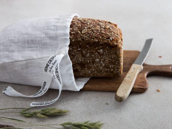 Brot- und Gemuese-Beutel aus Leinen