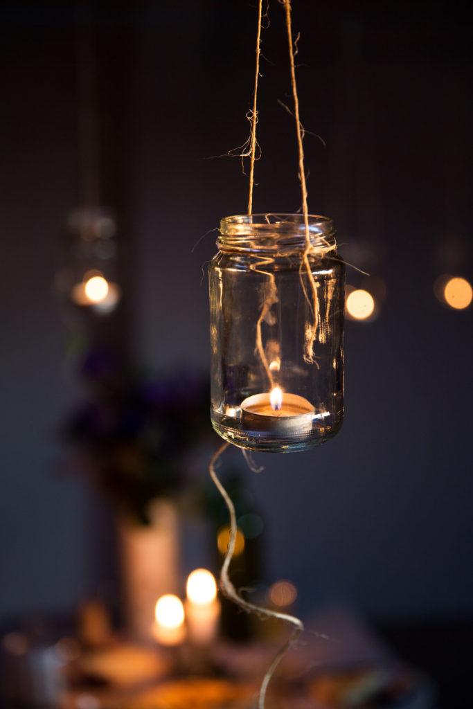 Einweckglas als Laterne nutzen